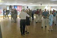 Escondido Elks Club, ballroom dancing on hardwood dance floor.