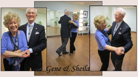 Gene and Sheila dancing