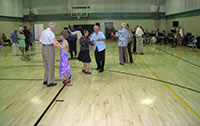 San Diego's North Par Recreation Center, refinished overize basketball court dance floor.
