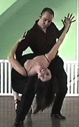 Adrian Campos and Rebecca Growhowski in a Salsa dip!