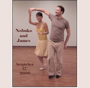 Nobuko and James practice east Coast Swing
