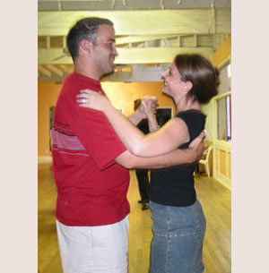 "Brad Spilkin & Amy Schatz practicing for their ""first dance"""