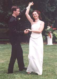 Robert and Jennifer Carty dancing on their wedding day